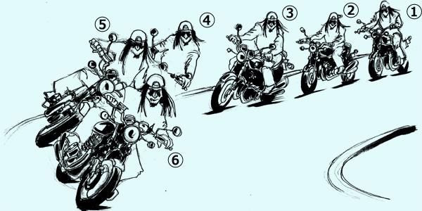 oldbike-cornering